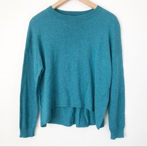 Trouve Nordstrom Cashmere Blend Teal Sweater